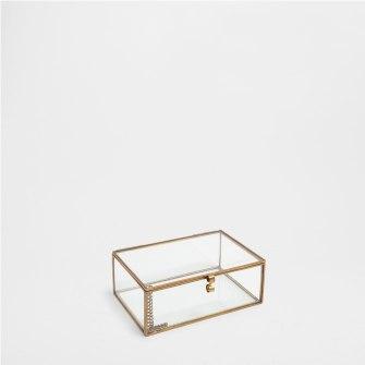 caixa vidro e metal Zara home €12,99